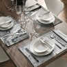 Set of placemat and table napkin