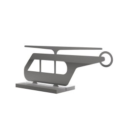 Helicopter metal shape